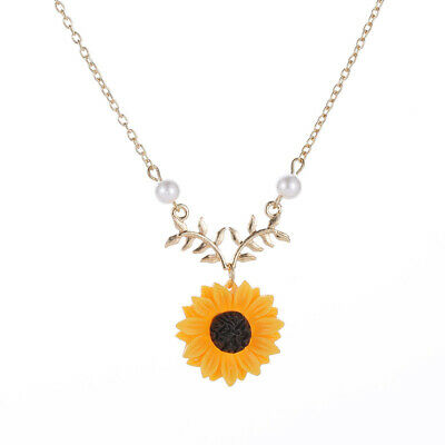 Unisex You Are My Sunshine Sunflower Pendant Chain Necklace Jewelry Gifts  • 2.99£