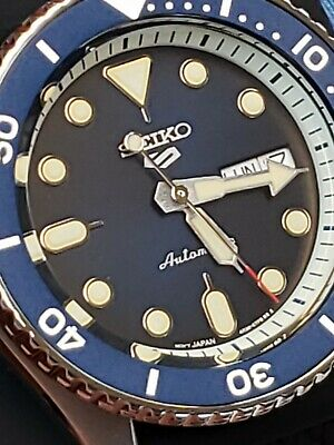$ CDN219.77 • Buy Seiko 5 SPORTS AUTOMATIC Watches BLUE DIAL.DATE/DAYS.42m.SILICON STRAP.