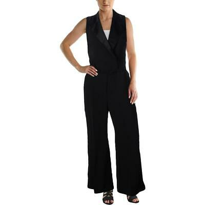 $19.79 • Buy Lauren Ralph Lauren Womens Checklie Black Satin Trim Tuxedo Jumpsuit 2 BHFO 2837