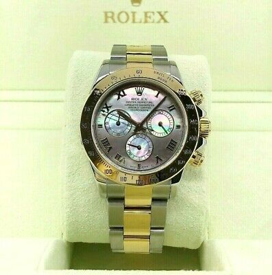 $ CDN21178.75 • Buy Rolex Cosmograph Daytona 40mm 18K Yellow Gold Steel Watch Ref116523 Tahitian MOP