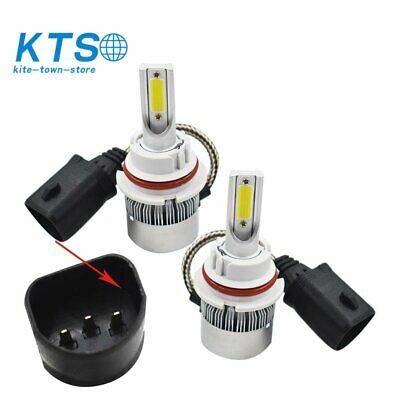 $11.68 • Buy 9007 HB5 6000K Super White LED Headlight Bulbs High Low Beam Conversion Kit Pair