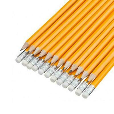 30 X HB PENCILS WITH RUBBER Eraser Tip SCHOOL STATIONERY Kids Learning • 2.40£