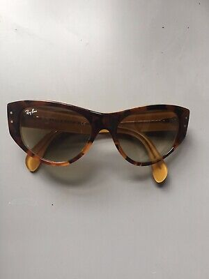 $27 • Buy Ray Ban Sunglasses Tortoise Gradation Brown Polarized- Vintage Cat Eye Look!