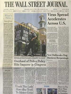 $3.99 • Buy George Floyd Black Lives Matter Plaza Protesters Wall Street Journal Article Wsj