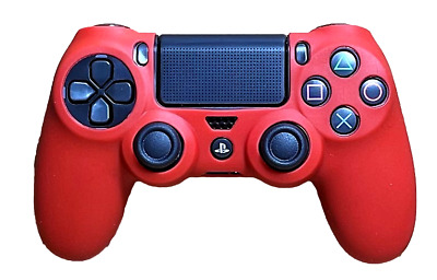 AU8.90 • Buy Silicone Cover For PS4 Controller Case Skin - Red