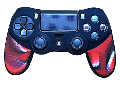 AU9.90 • Buy Silicone Cover For PS4 Controller Case Skin - Black/Red Camo