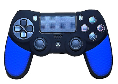 AU9.90 • Buy Silicone Cover For PS4 Controller Case Skin - Black/Blue