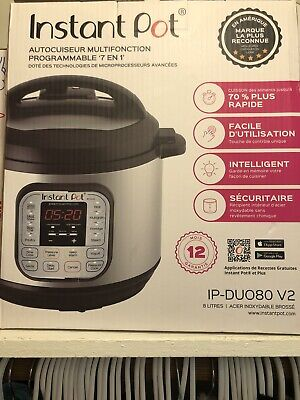 $70 • Buy Instant Pot DUO80 Qt Pl 7-in-1 Electric Pressure Cooker