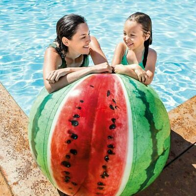 £8.99 • Buy 42  Intex Inflatable Giant Watermelon Beach Ball Realistic Design Pool Toy