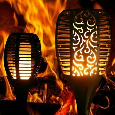 £29.95 • Buy Led Large Solar Dancing Flame Torch Lights Garden Outdoor Wedding Party Grave Uk