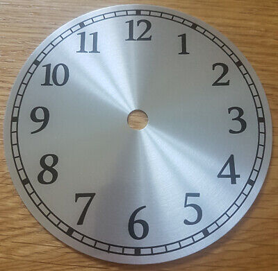 £8.95 • Buy NEW - 5 Inch Clock Dial Face - Silver Finish 127mm - Arabic Numerals - DL16