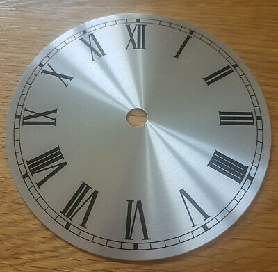 £8.95 • Buy NEW - 5 Inch Clock Dial Face - Silver Finish 127mm - Roman Numerals - DL15