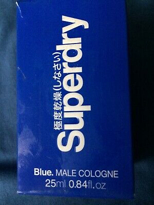 SUPERDRY BLUE EAU DE COLOGNE 25ML SPRAY Travel Size MEN • 12.99£