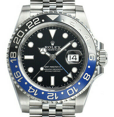 $ CDN21345.84 • Buy Rolex Gmt Master Ii Ss Jubilee Blue/black Batman Pristine Highline Time 126710