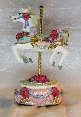 $9.95 • Buy MELODIES COUNTY FAIR CAROUSEL HORSE By Heritage House Used Music Box YESTERDAY
