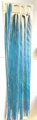 Holographic Sparkle Hair Tinsel Strands Glitter Extensions Highlight Party Bling • 4.99£