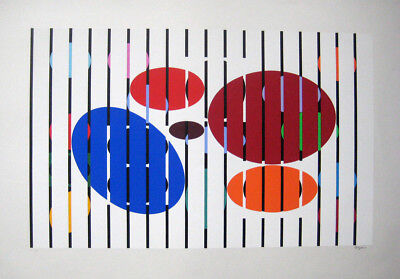 $744.95 • Buy Agam, Yaacov  One And Another  Signed Original Serigraph - Documented PRISTINE