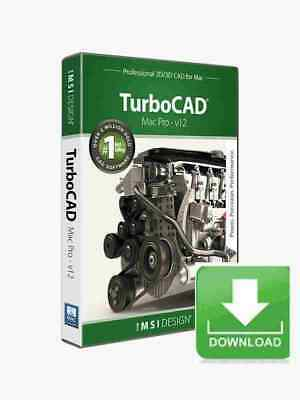 TurboCAD Mac Pro V12 2D 3D CAD Design Software -- Electronic Download • 500.04£