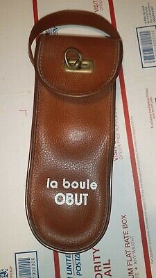 $45 • Buy Vintage La Boule Obut Lawn Bowling Game Bocce Steel Balls In Nice Leather  Case