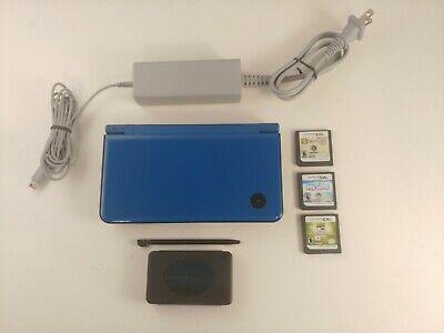 $28.50 • Buy Nintendo DSi XL Blue + 3GAMES + DSi Exclusive: Zelda:Four Swords Anniversary Ed.