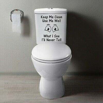 Toilet Picture Quote Bathroom Wall Art Decor Funny Vinyl Sticker Decal • 3.75£