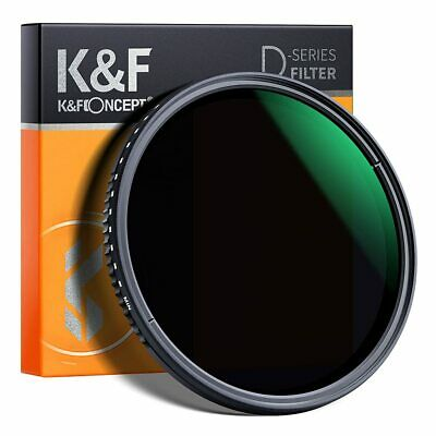 AU55.99 • Buy K&F Concept 67/72/77/82mm Variable Camera ND Lens Filter ND8-ND2000 Waterproof