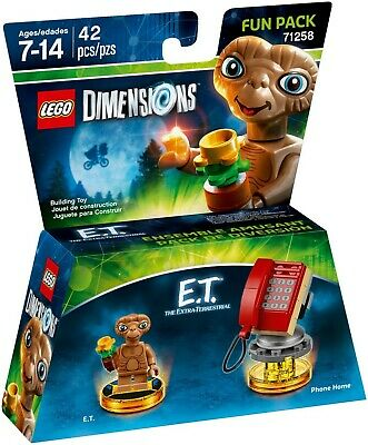 AU49.95 • Buy LEGO 71258 - Dimensions - E.T. Extra-Terrestrial Fun Pack (Brand New & Sealed)