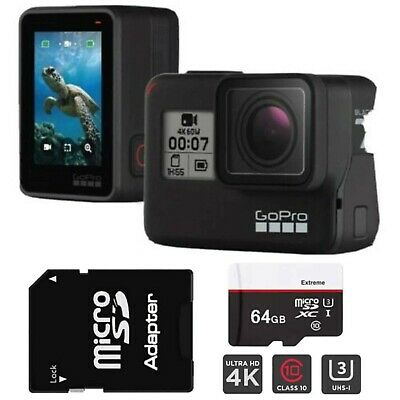 AU450 • Buy GoPro HERO7 Black With 64GB SD Card + Adapter - Hyper Smooth - Brand New In Box