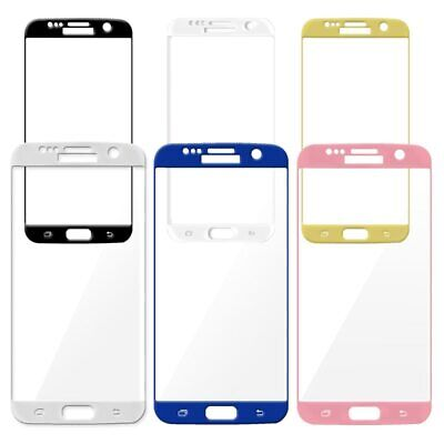 $ CDN5.51 • Buy Full Cover Tempered Glass Screen Protector For Galaxy S6 Edge Plus S7 Edge S8 S9