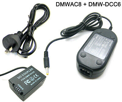 AU32.88 • Buy AC Adapter Power Charger For Panasonic DMW-AC8 + DMW-DCC6 DMW-BMB9 Dummy Battery