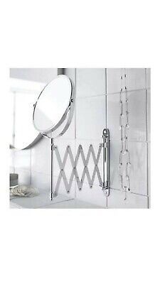 AU23.50 • Buy IKEA Frack 2 Sided Extending Makeup Mirror Stainless Steel Magnifying Makeup