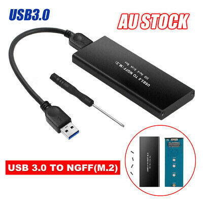 AU20.95 • Buy M.2 SSD Enclosure Storage External Case NGFF SATA TO USB 3.0 Adapter Aluminium