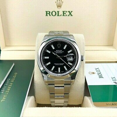 $ CDN10544.77 • Buy Rolex Datejust II 41mm Watch Stainless Steel Oyster Smooth Bezel Ref # 116300