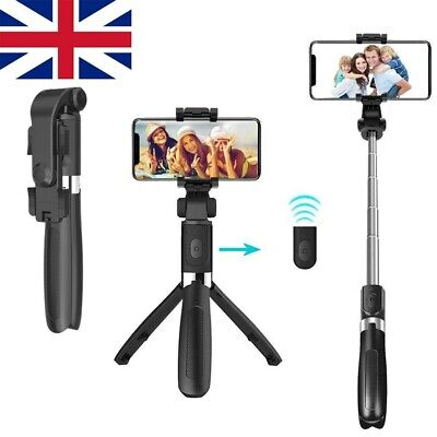 Remote Bluetooth Selfie Stick Extendable Telescopic Phone Stand Monopod Tripod • 8.59£