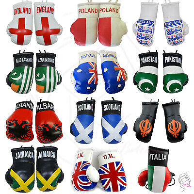 All Countries Mini Boxing Gloves For Car Mirror • 4.95£