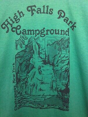 $ CDN11.25 • Buy Vintage T-Shirt High Falls Park Camp Chateaugay New York 50/50 NEW OLD STOCK - L