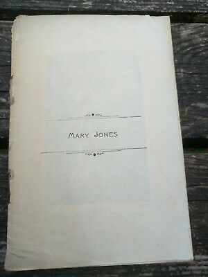 Mary Jones Gan Robert Oliver Rees 1923 Vintage Welsh Language Booklet • 4.99£