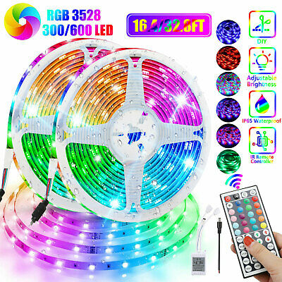 $13.97 • Buy 32FT Flexible 3528 RGB LED SMD Strip Light Remote Fairy Lights Room TV Party Bar