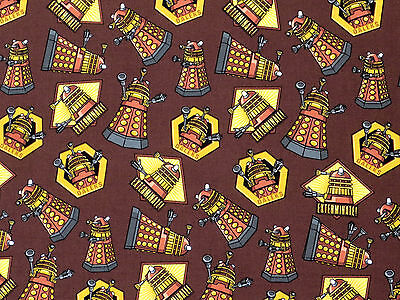 £4.50 • Buy Fat Quarter Doctor Who Daleks 100% Cotton Quilting Fabric Springs Fabric 57136