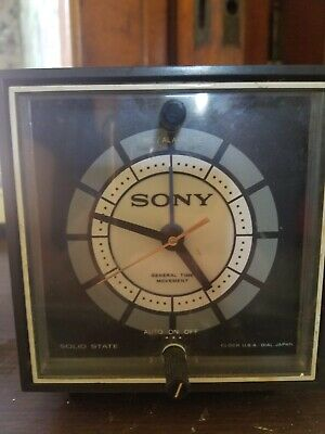 $23 • Buy Vintage SONY 8RC-23A 6 Transistor Solid State Alarm Cube Clock Radio - Works!