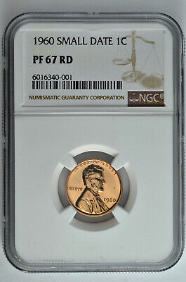 $27.99 • Buy 1960 Small Date Proof 1C Lincoln Memorial Cent NGC PF 67 RD