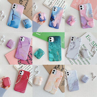 $ CDN6.59 • Buy For IPhone 11 Pro Max XS XR 7 8 Plus AirPods Pro 2 1 Marble Soft TPU Case Cover