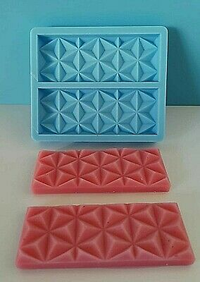 Snap Bar-Styled Silicone Mould For Wax Melts, Candles, Soaps, Resin, Tarts • 7.99£