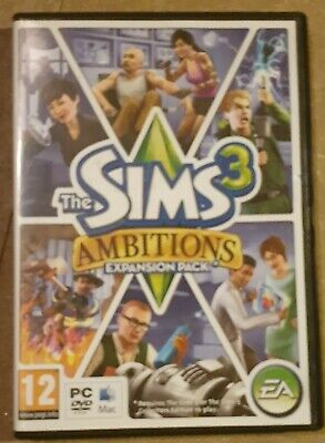 Sims 3, Ambitions Expansion Pack PC Or MAC DVD Rom • 12.99£