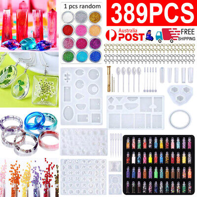 AU24.59 • Buy 389X DIY Jewelry Mould Handmade Crystal Glue Making Set Resin Silicone Mold Kit