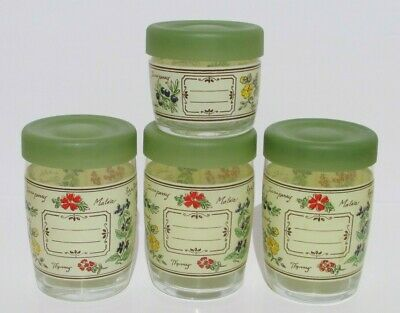 Vintage Storage Jars With Lids  Spices Themed • 14.61£