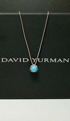 $145 • Buy David Yurman Sterling Silver Chatelaine Pendant Necklace With Turquoise Stone