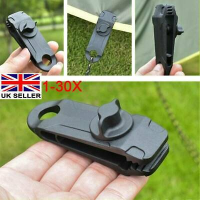 1-30X Reusable Tent Tarp Tarpaulin Clip Clamp Buckle Camping Tool Heavy Duty NEW • 9.39£