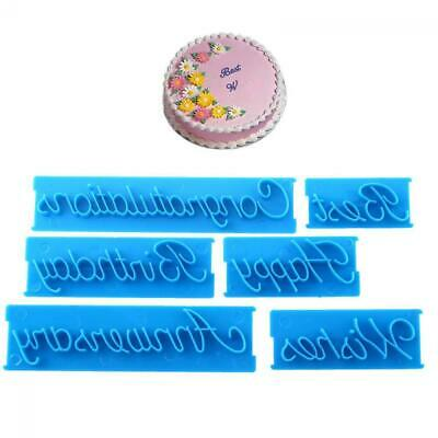 £3.04 • Buy Tool Fondant Cutter Icing Happy Birthday Sugarcraft Mould Letter Cake Mold
