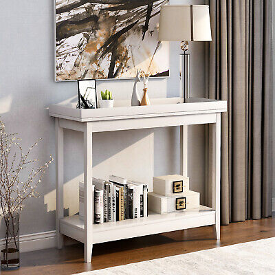 Console Table Beside Table End Sofa Table With Shelf Storage Wooden Hall Desk • 56.99£